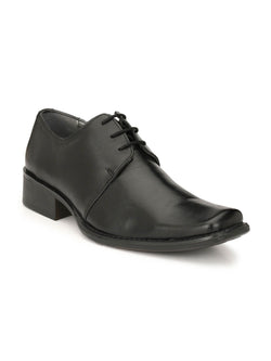Leo - 1436 Black Leather Formal Shoes