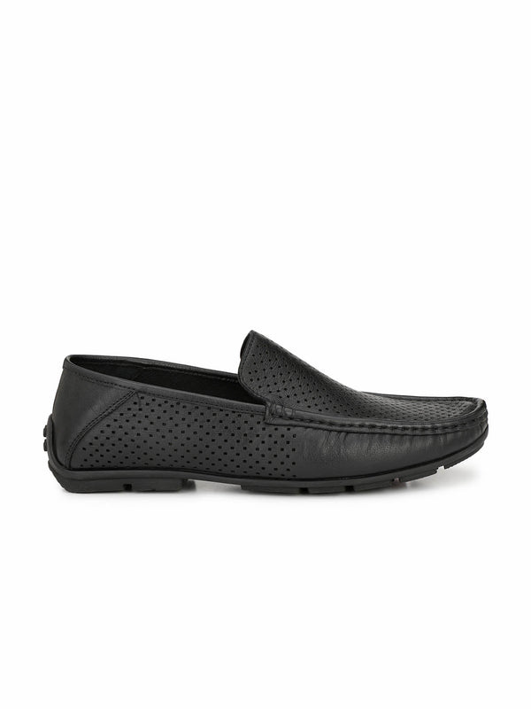 Antony - 1501 Black Leather Loafers