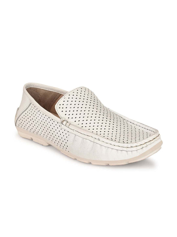 Antony - 1501 White Leather Loafers