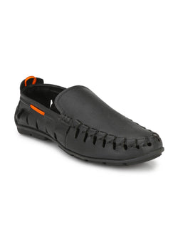 Antony - 1504 Black Leather Loafers