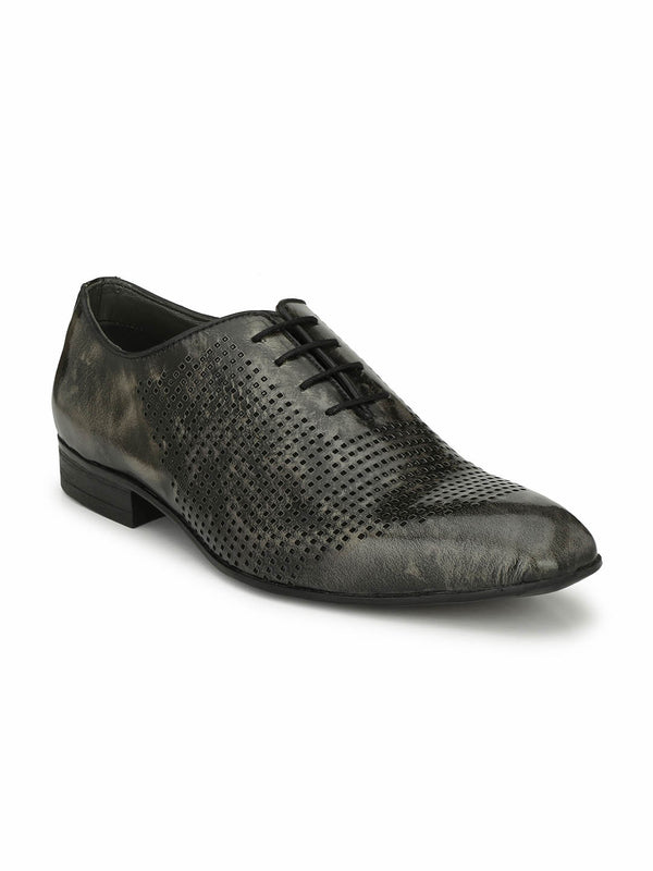 Greejman - 1807 Grey Leather Shoes