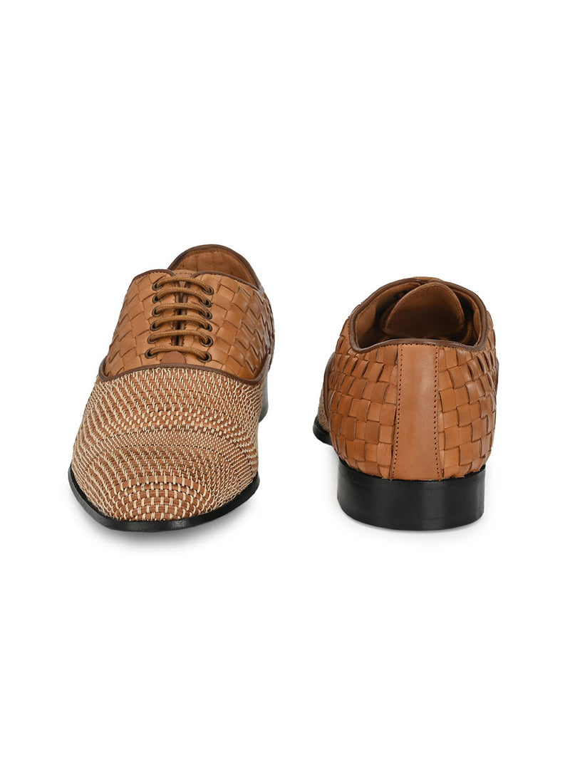 Hitz Tan Lace-up Luxure Shoes