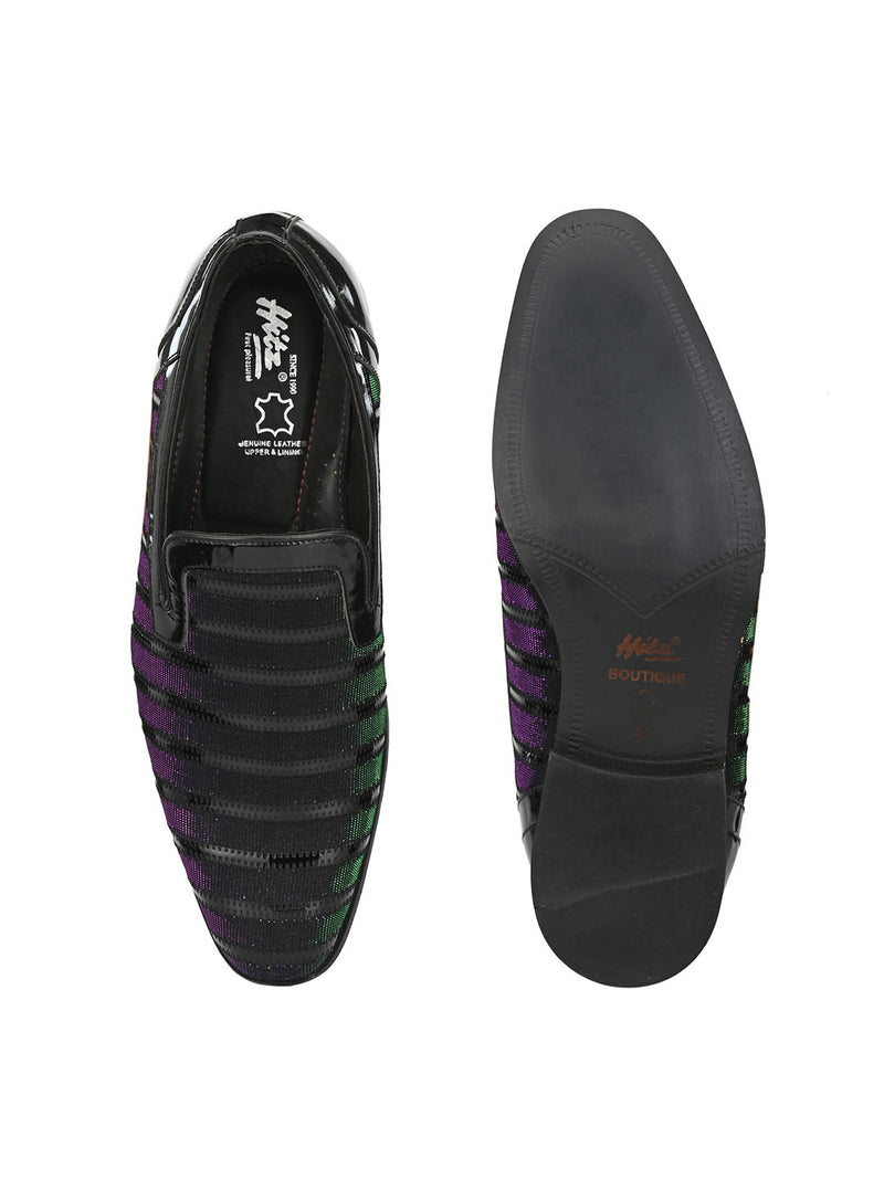 Hitz Black Slip-on Luxure Shoes