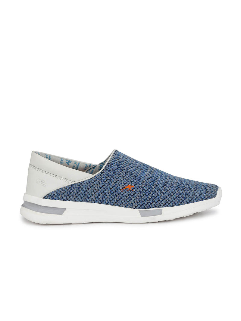 Men Blue Flyknit Casual Shoes