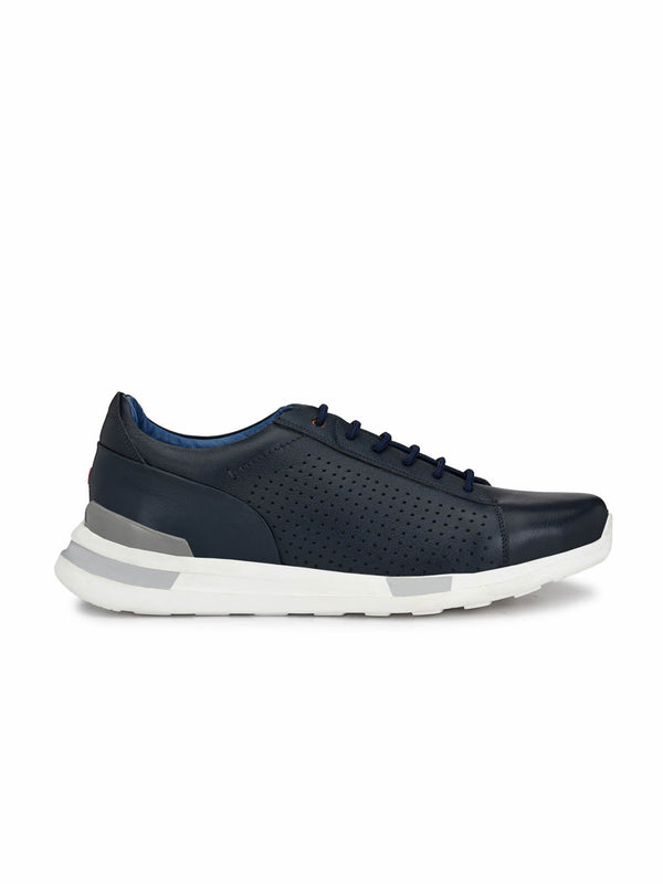 Tag - 206 Blue Leather Running Shoes
