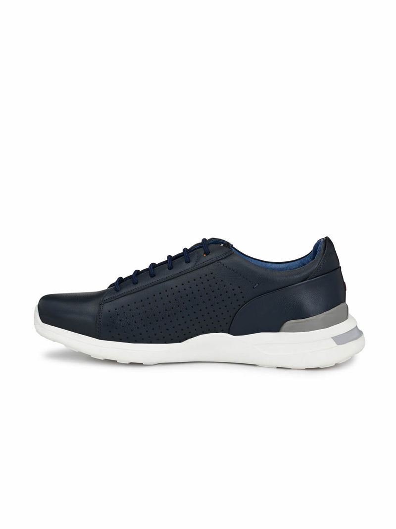 Men Blue Casual Derby Shoes