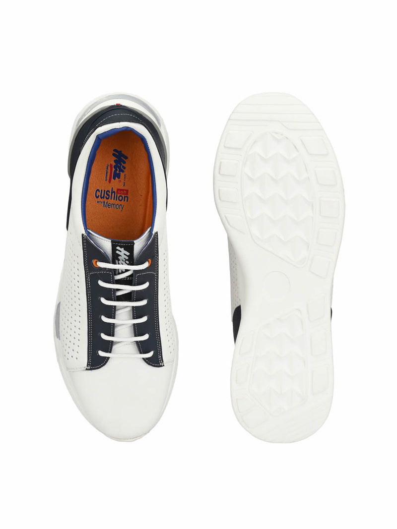 Men White Casual Derby Shoes