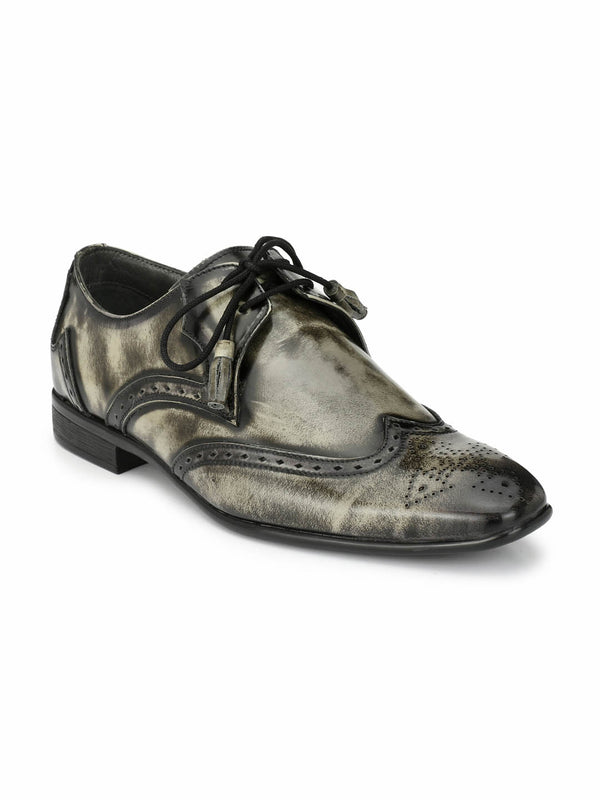 Beslay - 2211 Grey Leather Shoes