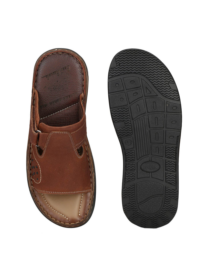 Renault - 2302 Tan Leather Slippers