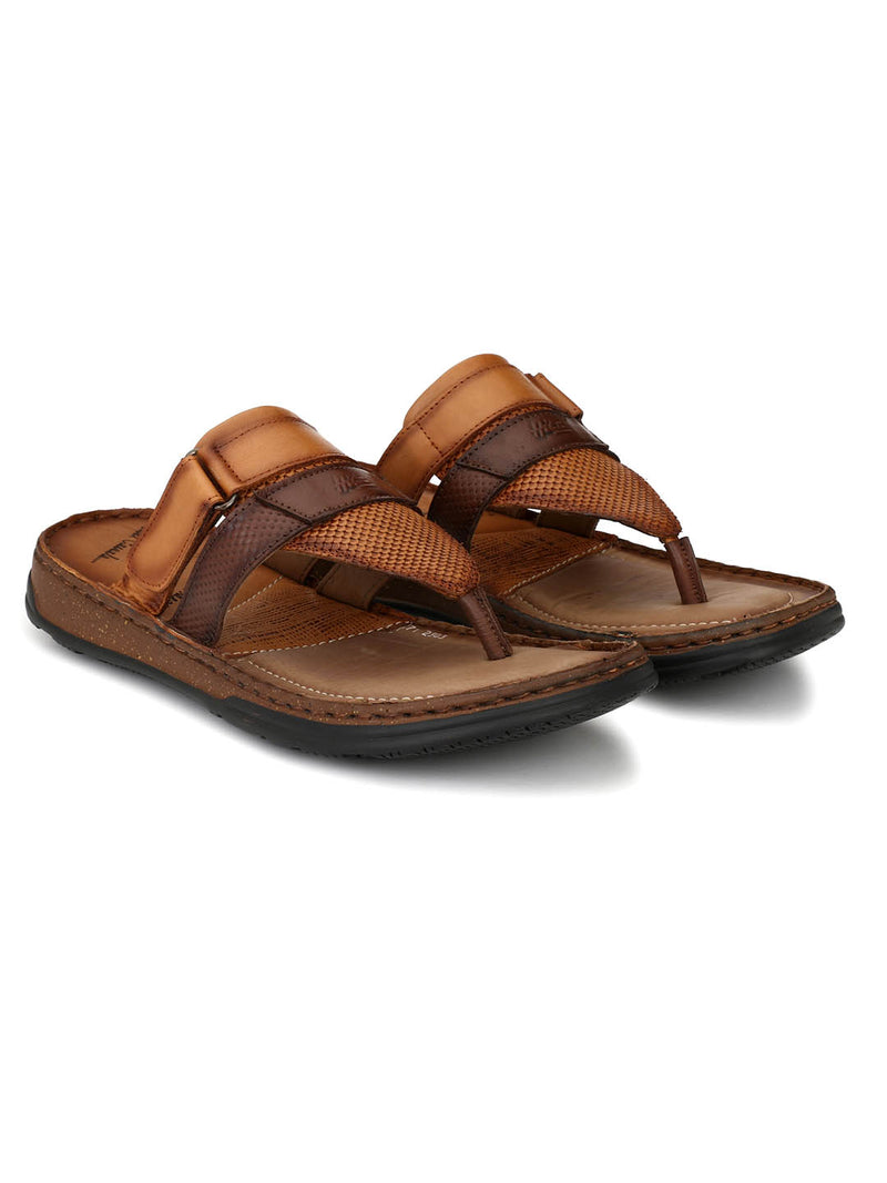Men Men Comfort Slippers in Tan