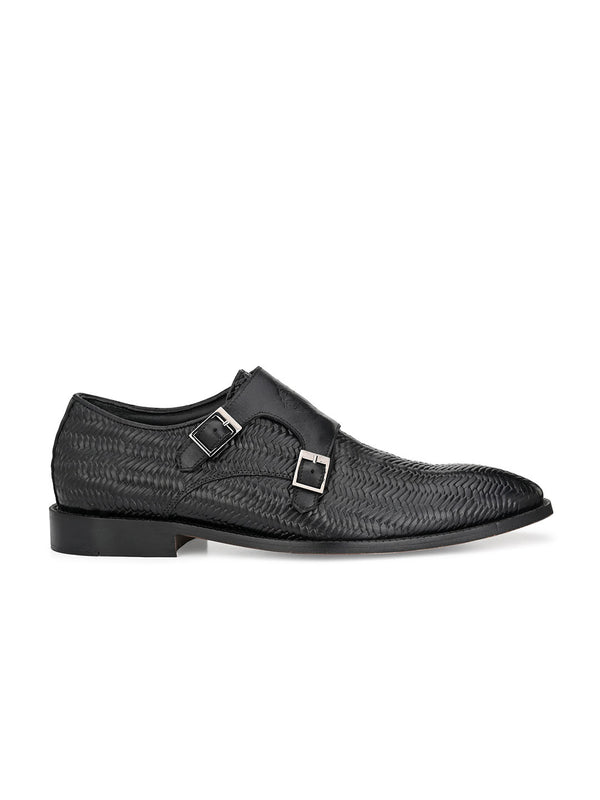 Hitz Moro Black Monk Shoe For Men