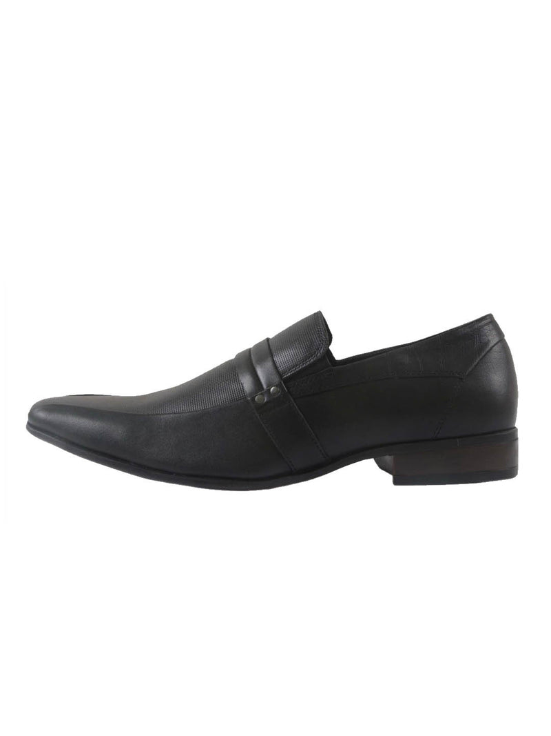 Bento - 2901 Black Leather Shoes