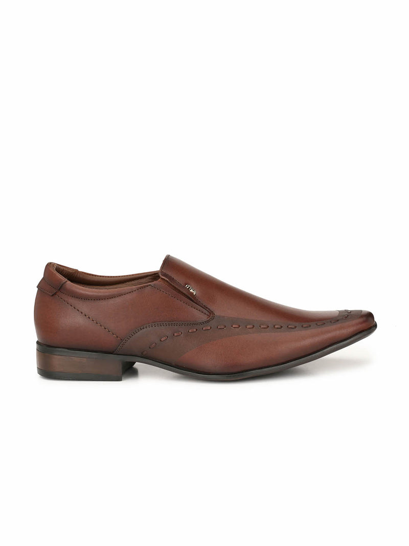 Men Brown Semi-Formal Slip-on Shoes
