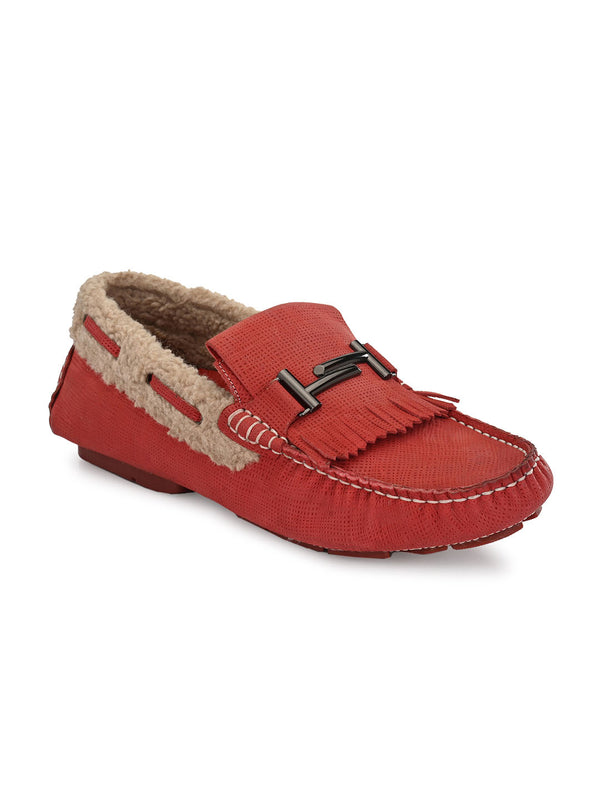 Hitz Red Matrix Moccassins Luxure Shoes