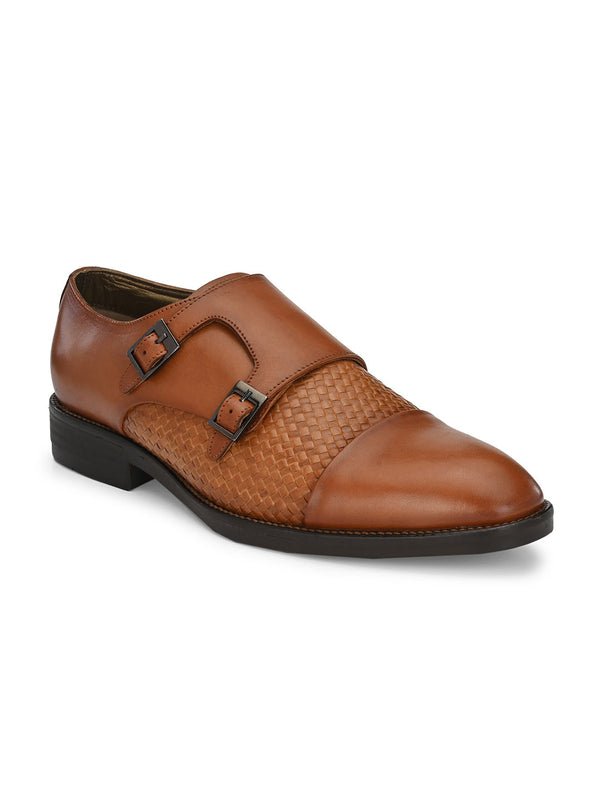 Hitz Tan Double monk Luxure Shoes