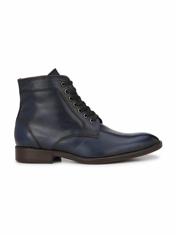 Premium - 3003 A Blue Leather Boots