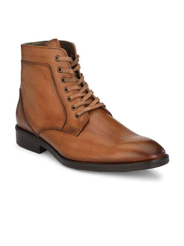 Hitz Tan Lace-up Luxure Boots