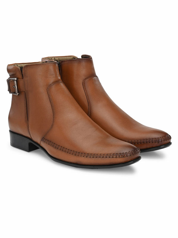 Hitz Tan Slip-on Luxure Boots