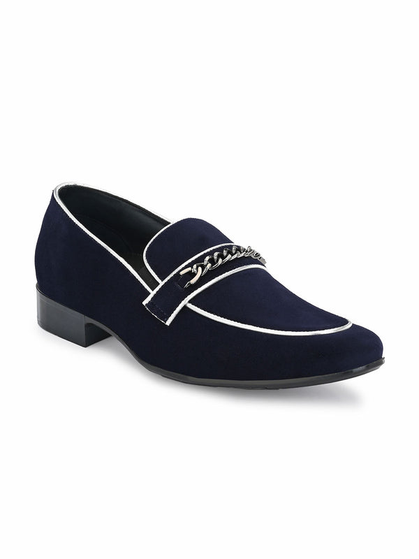 Hitz Blue+Silver Slip-on Luxure Shoes