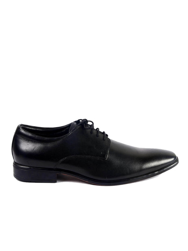 Robin - 3302 Black Leather Shoes