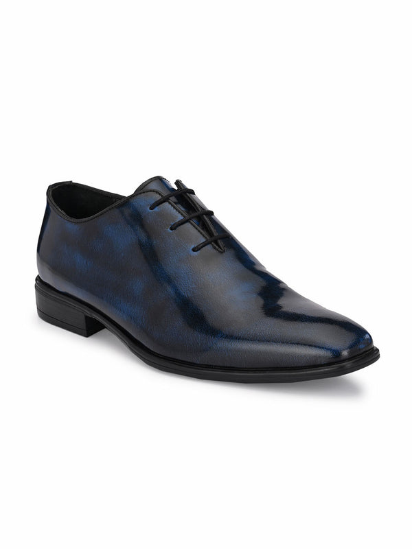 Hitz Blue Lace-up Luxure Shoes