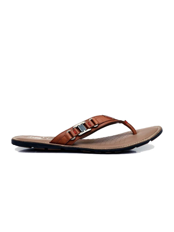 Haveit - 3401 Tan Leather Slippers