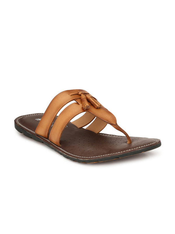 Haveit - 3405 Tan Leather Slippers