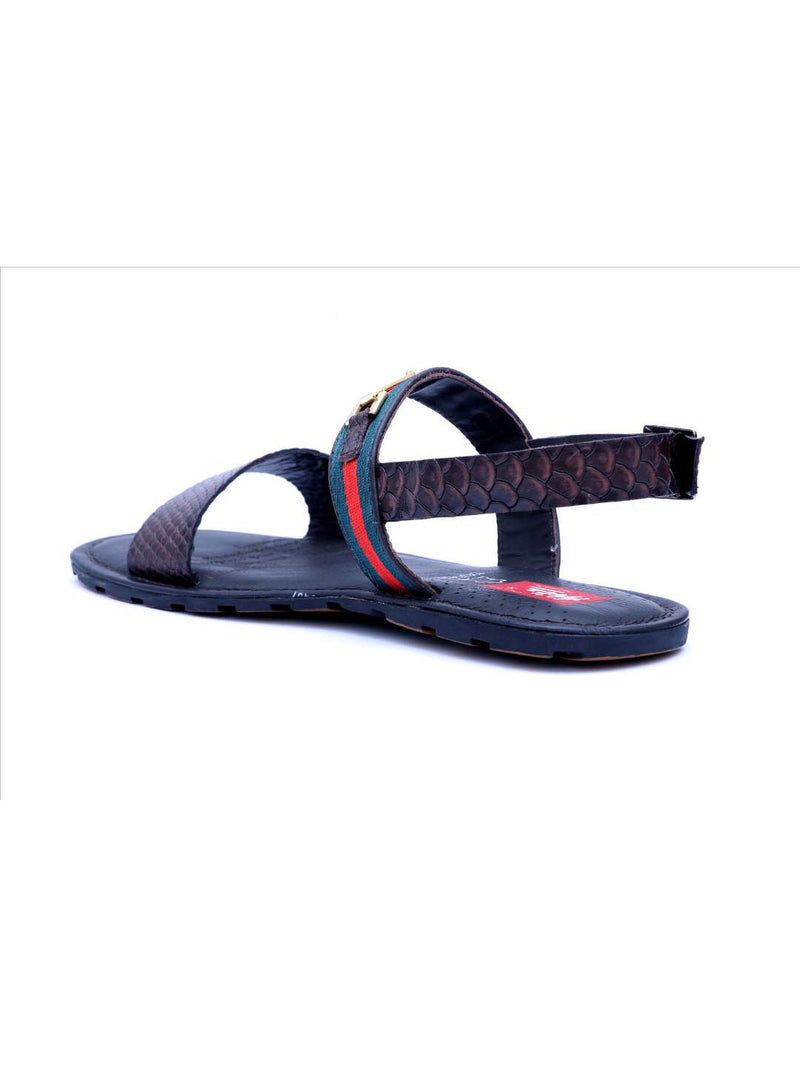 Brown Genuine Leather Casual sandals