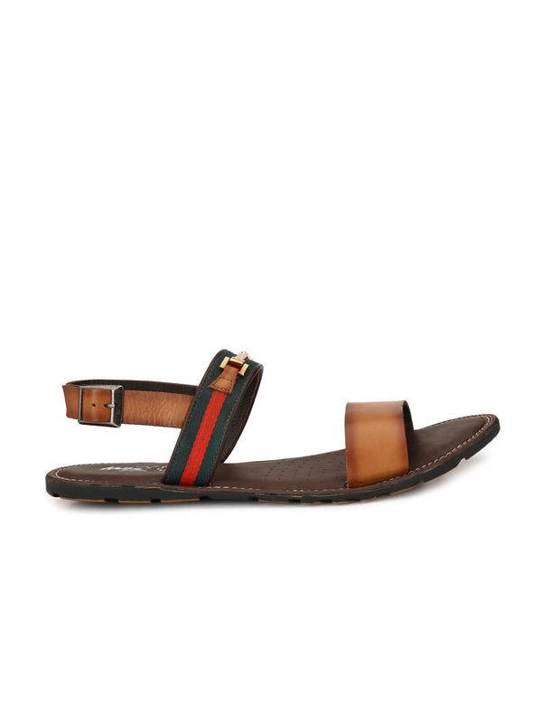 Tan Genuine Leather Casual sandals