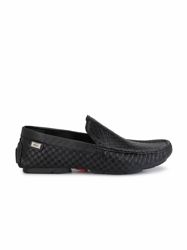 Driving - 354 Black Leather Loafers