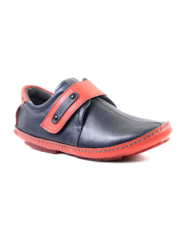 Men Blue Velcro Style Slip-On shoe Loafers