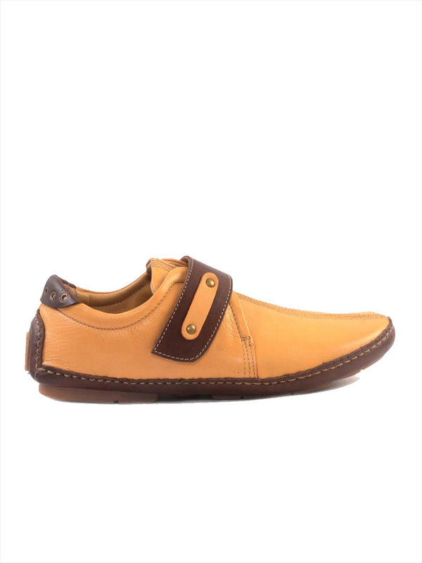 Men Beige Velcro Style Slip-On shoe Loafers