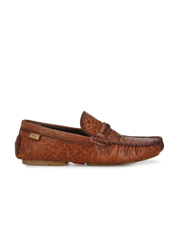 Hitz Deny Tan Loafers For Men