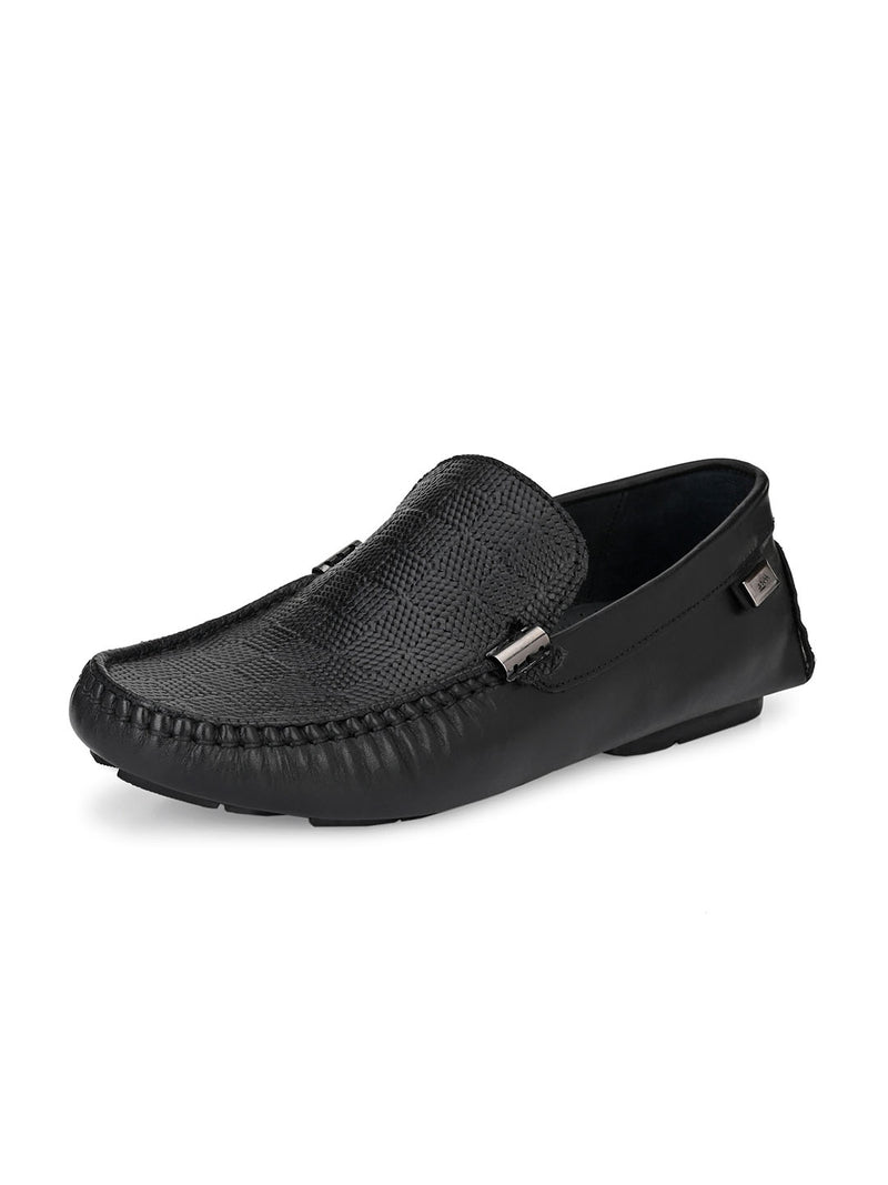 Hitz Deniel Black Loafers For Men