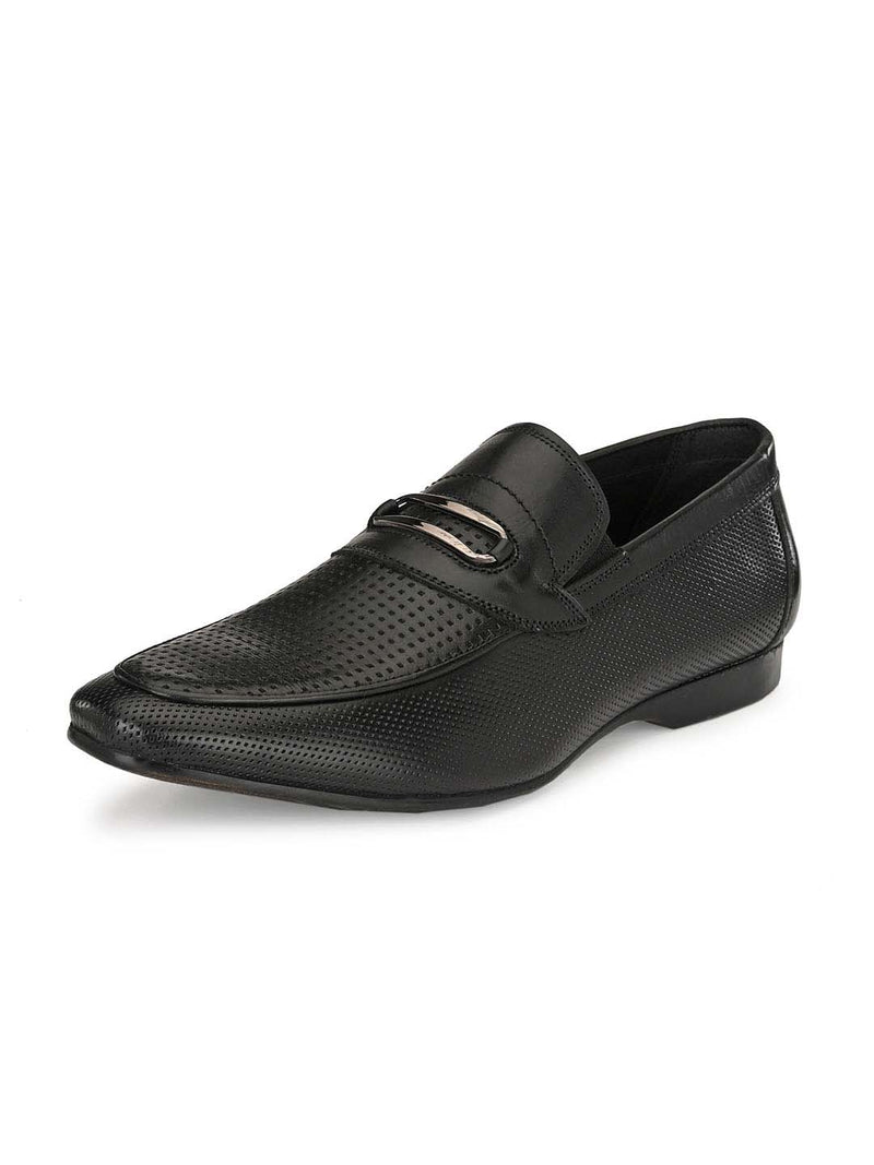 Real - 3901 Black Leather Shoes