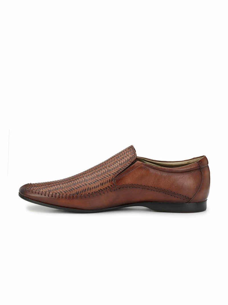 Real - 3917 Brown Leather Shoes