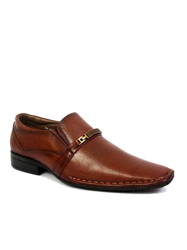 Men Classic Tan Leather Shoes