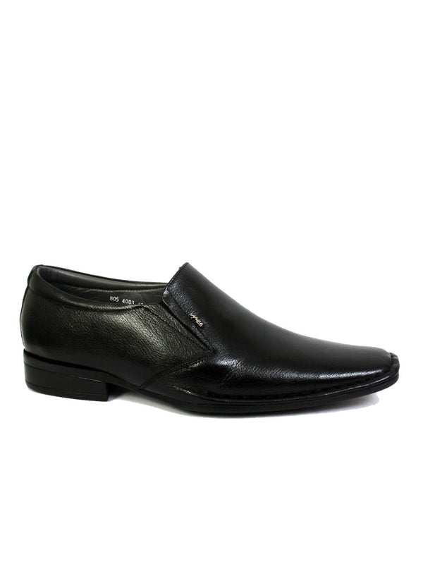 Stephin - 4003 Black Leather Shoes