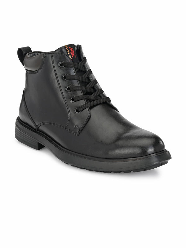 Hitz Black Lace-up Luxure Boots