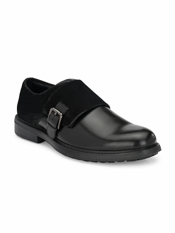 Hitz Black Double monk Luxure Shoes