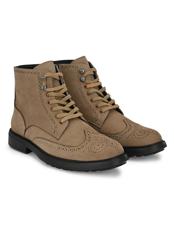 Hitz Olive Lace-up Luxure Boots