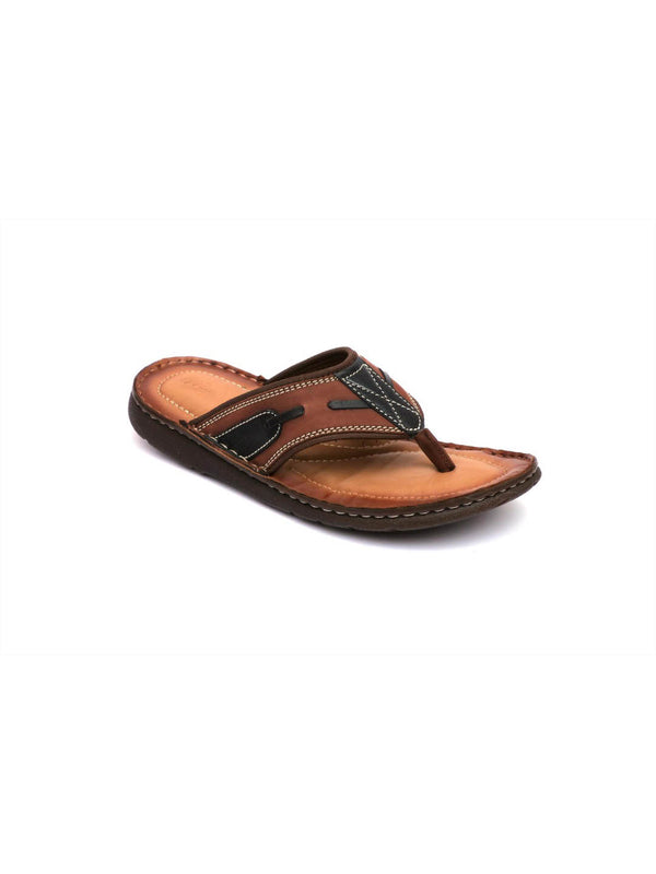 Men's Cushion Coco Leather Slippers