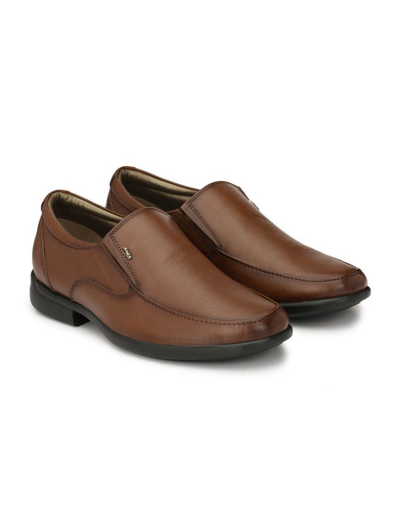 Mens Tan Leather Comfort Shoes