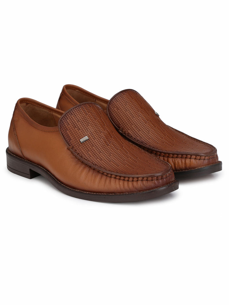 Mens Tan Leather Classic Comfort Shoes