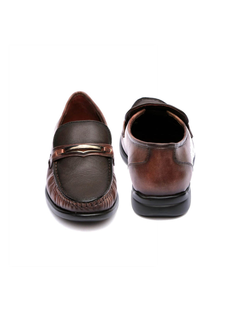 Exl - 4305 Brown Leather Shoes