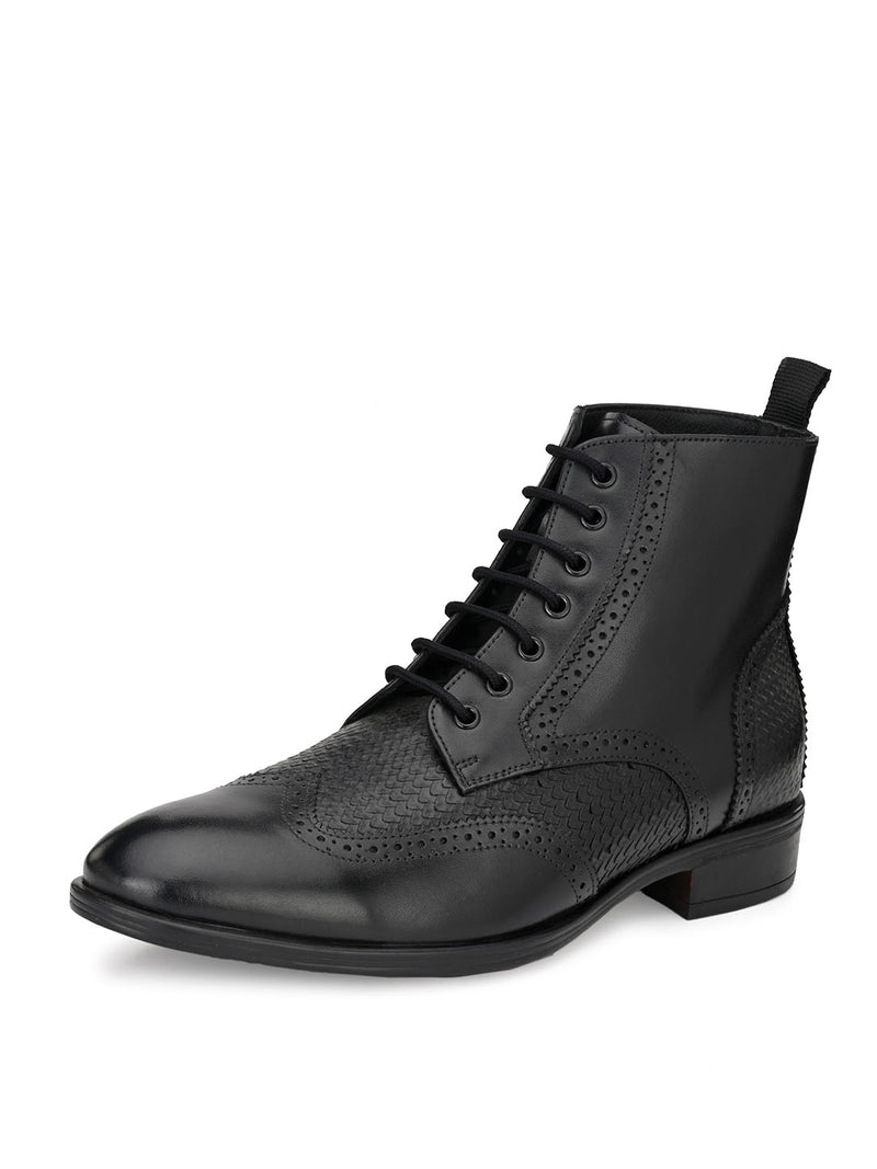 Hitz Gimo Black Boot For Men