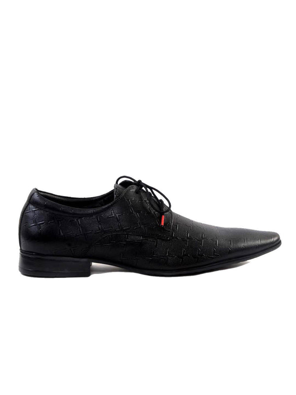 Wesley - 4502 Black Leather Shoes