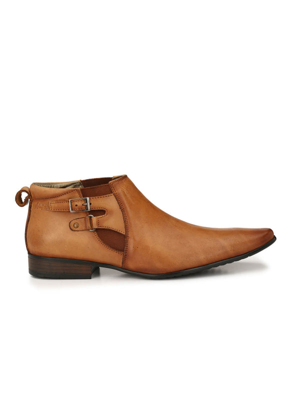 Wesley - 4518 Tan Leather Boots