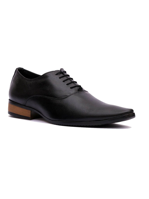 Wesley - 4566 Black Leather Shoes