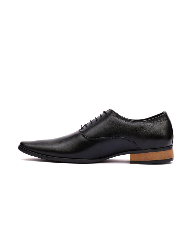 Men Office Black Leather Shoes